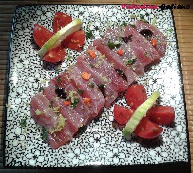 tonno rosso marinato
