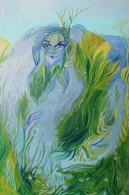 Lilian Russo, «La fanciulla delle alghe» (olio su tela)