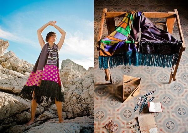 Collezione di sciarpe di Ricchezza Falcone i-design