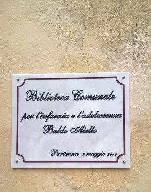 intitolazione bliblioteca comunale partanna 3