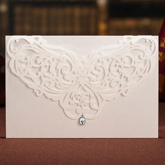 Partecipazioni Matrimonio Laser bianche