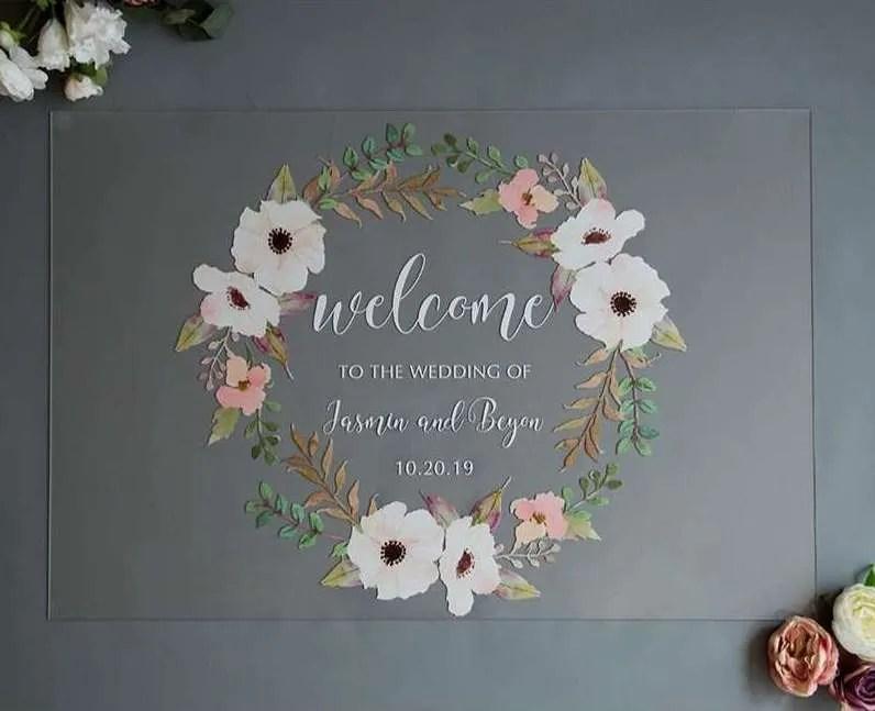 Cartelli Plexiglass tableau de mariage YK001_4