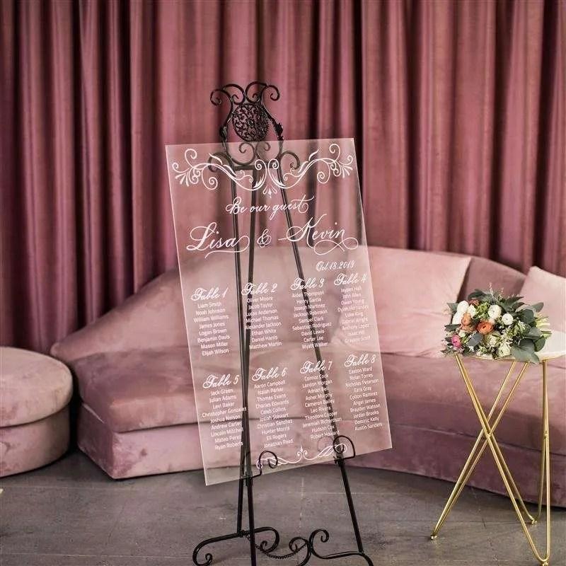 Cartelli Plexiglass tableau de mariage YK003_2