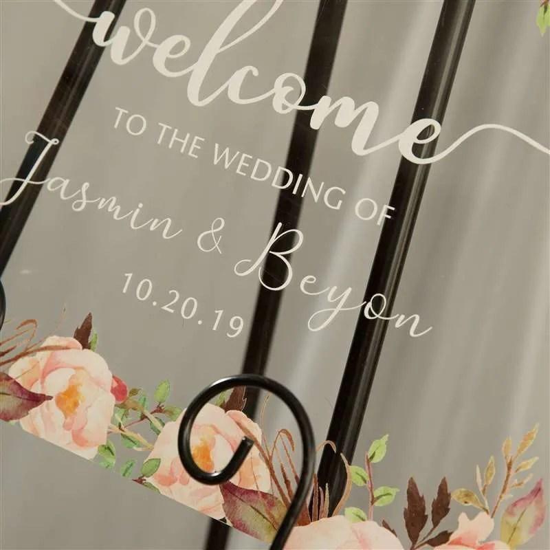 Cartelli Plexiglass tableau de mariage YK004_6