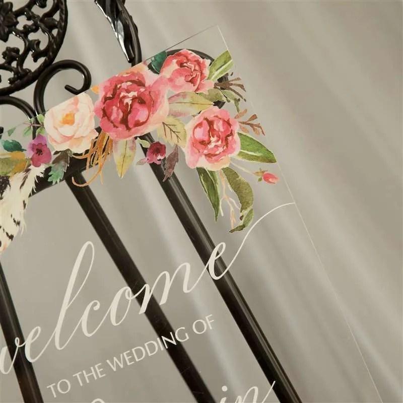 Cartelli Plexiglass tableau de mariage YK008_6