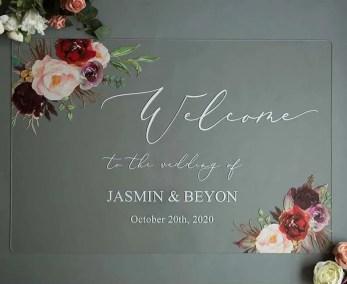 Cartelli Plexiglass tableau de mariage YK009_2