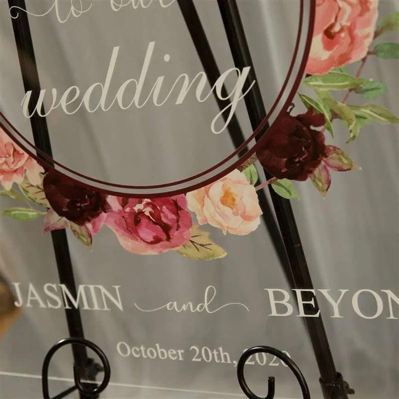Cartelli Plexiglass tableau de mariage YK011_6