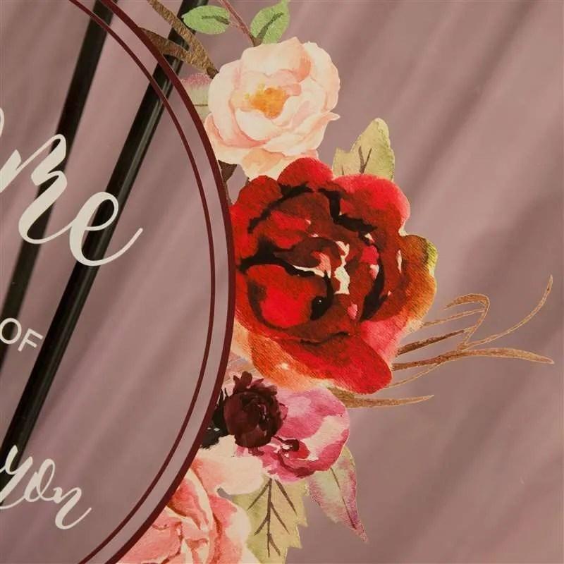 Cartelli Plexiglass tableau de mariage YK012_7