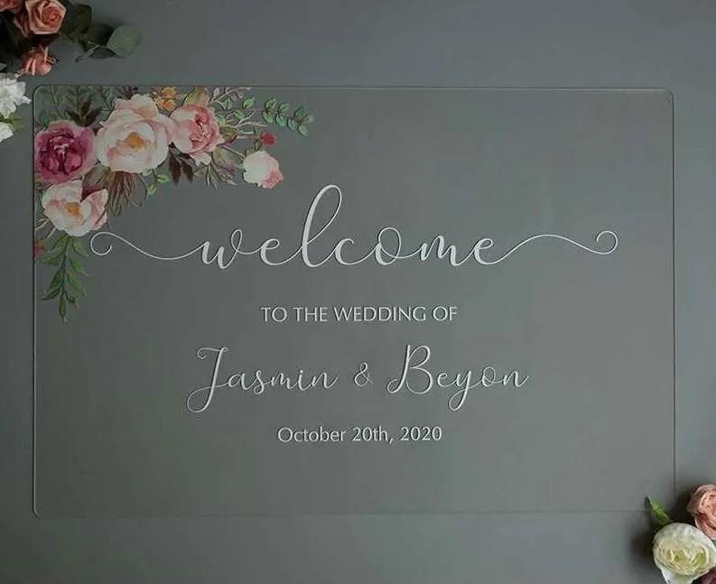 Cartelli Plexiglass tableau de mariage YK014_4