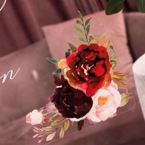 Cartelli Plexiglass tableau de mariage YK015_3