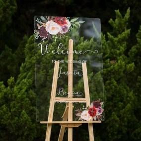 Cartelli Plexiglass tableau de mariage YK016