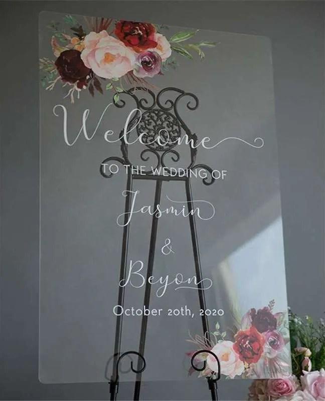 Cartelli Plexiglass tableau de mariage YK016_4