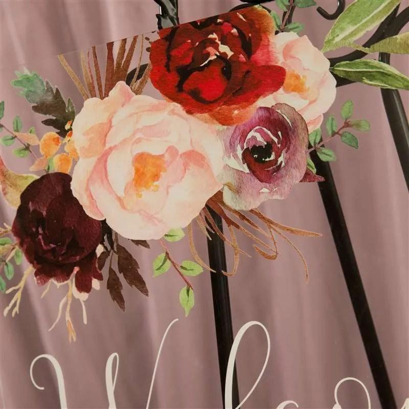 Cartelli Plexiglass tableau de mariage YK016_6