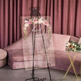 Cartelli Plexiglass tableau de mariage YK025_2