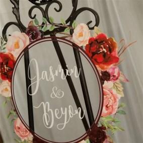 Cartelli Plexiglass tableau de mariage YK028_5