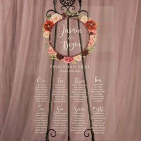 Cartelli Plexiglass tableau de mariage YK028_6