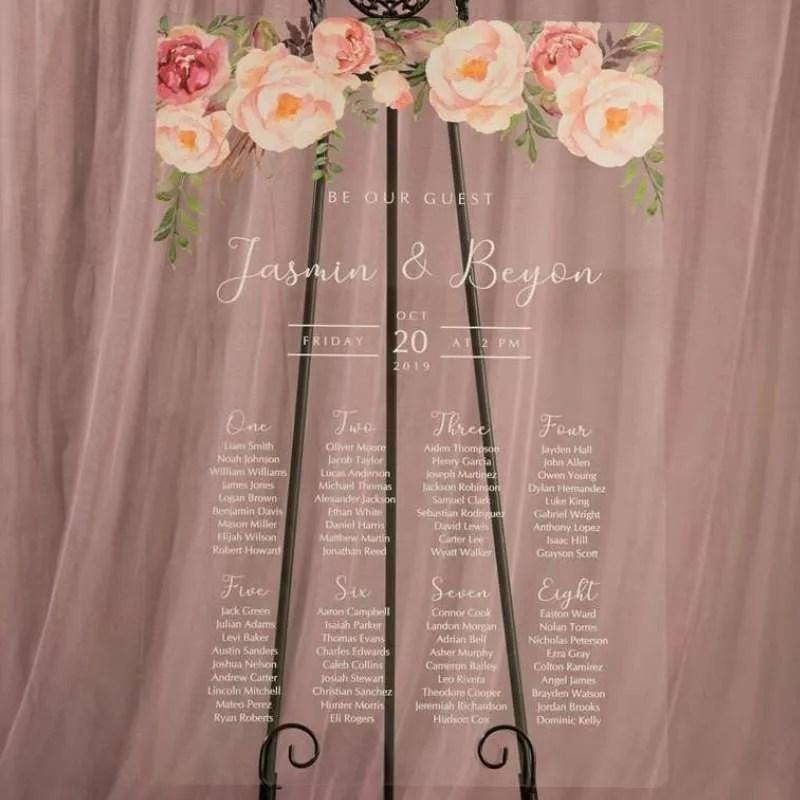 Cartelli Plexiglass tableau de mariage YK029_4