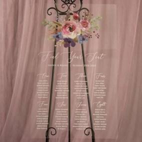 Cartelli Plexiglass tableau de mariage YK030_6