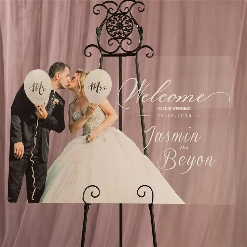 Cartelli Plexiglass tableau de mariage YK031_4