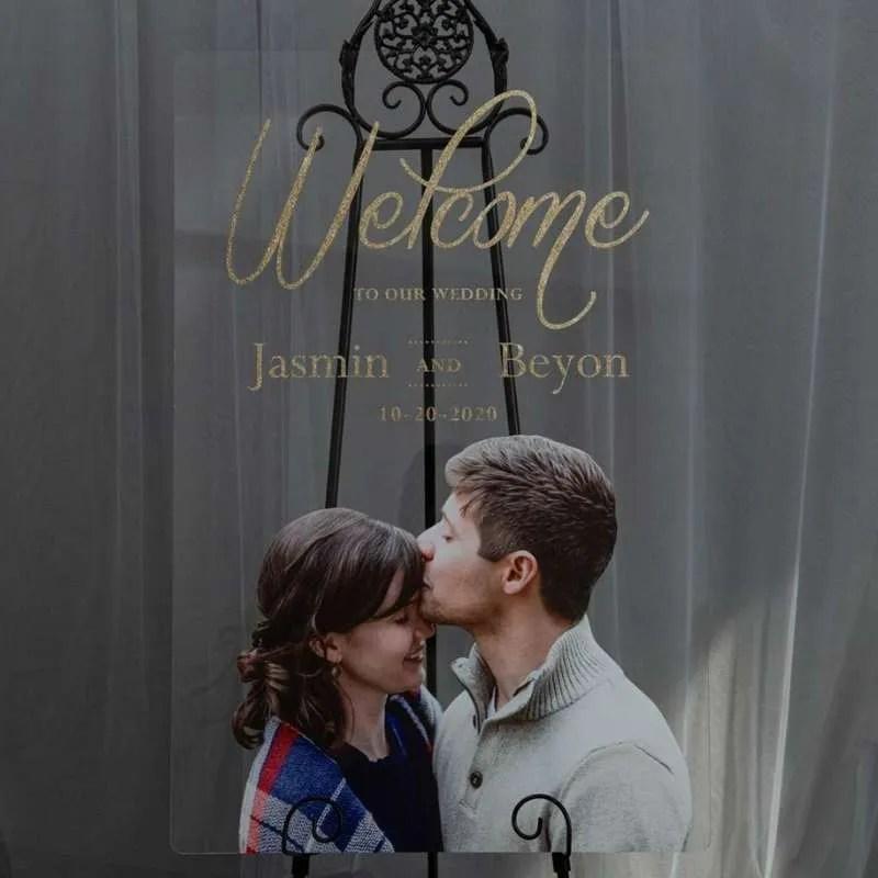 Cartelli Plexiglass tableau de mariage YK036