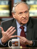 FILE: William Safire, Speechwriter of President Nixon Dead At 79...WASHINGTON - FEBRUARY 27: (FILE PHOTO) Columnist of the New York Times, William Safire, gestures as he attends a roundtable discussion on NBC's 'Meet the Press' during a taping at the NBC studios February 27, 2005 in Washington, DC. It was reported that William Safire, a speechwriter for U.S. President Richard M. Nixon and a Pulitzer Prize-winning political columnist for The New York Times died at a hospice at the age of 79 on September 27, 2009 in Rockville, Maryland. (Photo by Alex Wong/Getty Images)