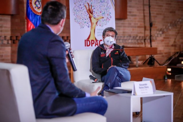 Alcaldesa y director IDPAC