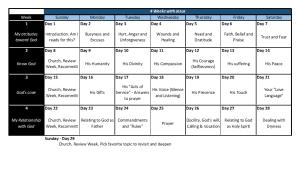 e-course calendar