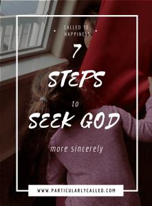 seek god, seeking God