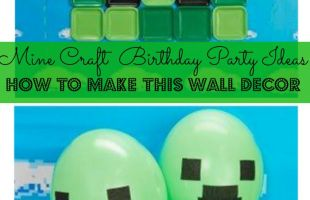 Mine Craft Birthday Party: D.I.Y. Block Miner Party Decor