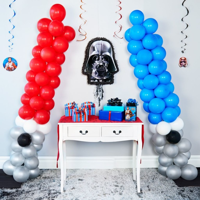 How to Make These Totally Awesome DIY Star Wars Party Balloon Lightsabers