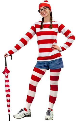 Wheres Waldo Costume Girls