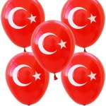 Türk bayrağı baskılı balon