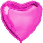 Pembe Büyük Kalp Folyo Balon 65cm