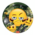 Asker emoji Partisi Karton Tabak