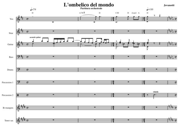 La-partitura-orchestrale de-L-ombelico-del-mondo-1