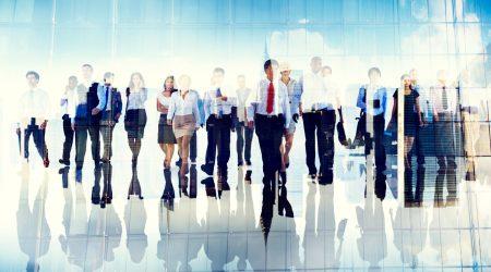 Group of Business People Walking Forward