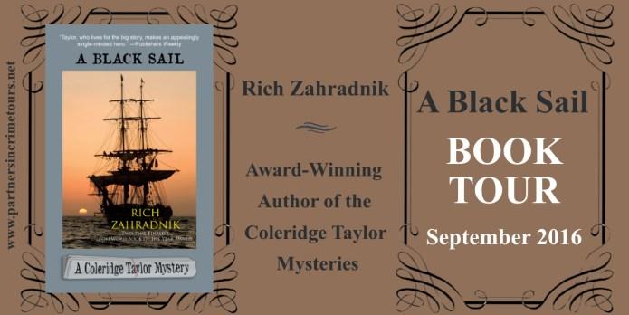 A Black Sail by Rich Zahradnik Tour Banner