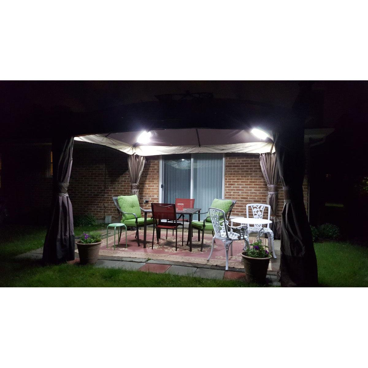 pop up canopy tent light kit with four 15 75 ip65 waterproof led magnetic light bars and carry bag