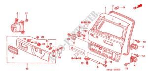 TAILGATE for Honda Cars CRV EXECUTIVE 5 Doors 5 speed manual 2006 # HONDA CARS  Genuine Spare