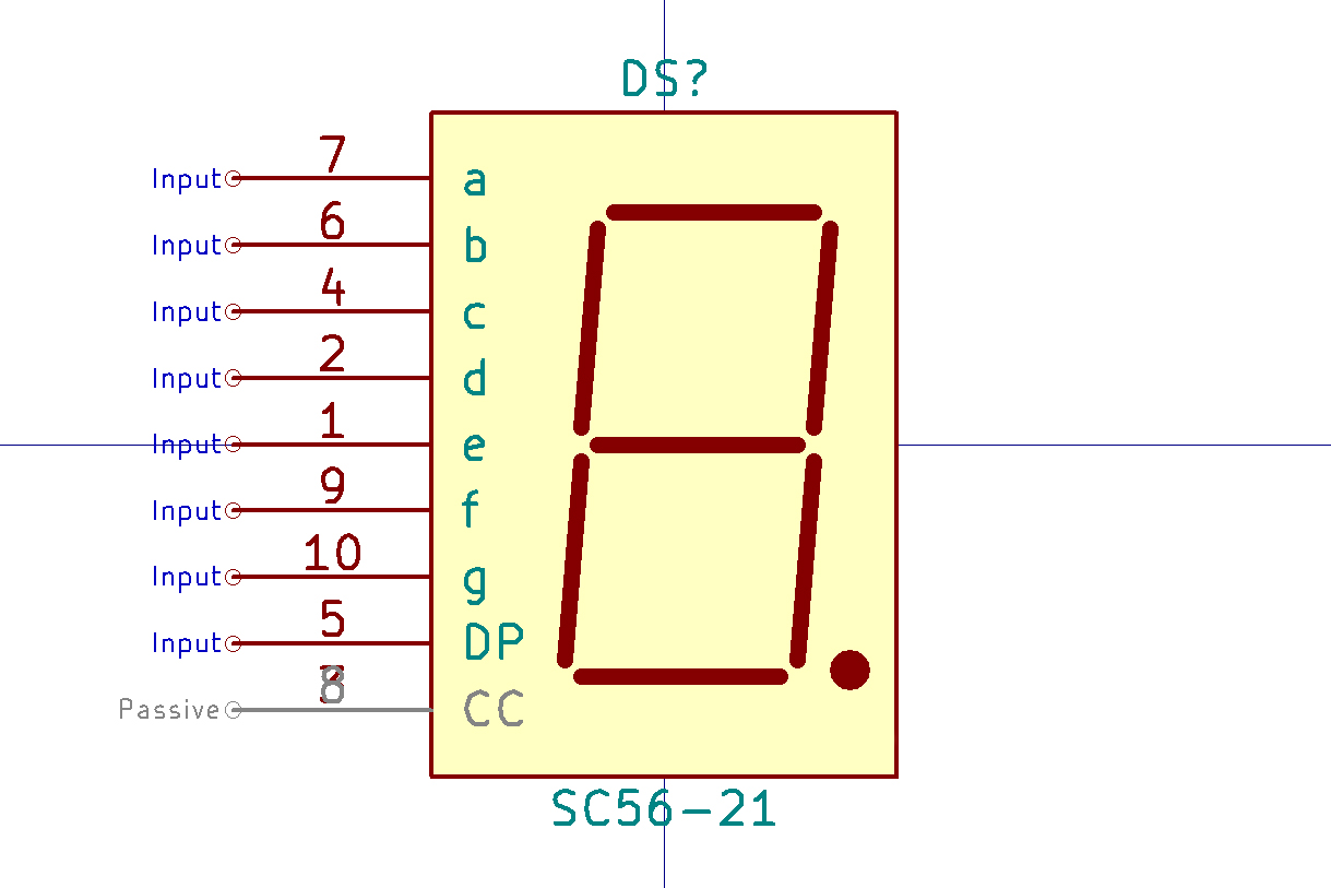 Making A Time Circuit Display Schematic Parts Not Included Here Is The For 2digit 7segment Click Kicad Symbol Sc5621
