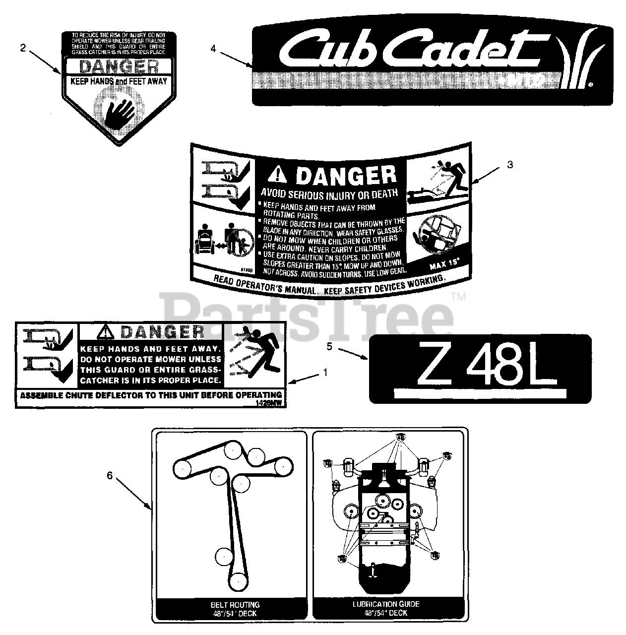 Cub Cadet Z48l 53ba1d5m100