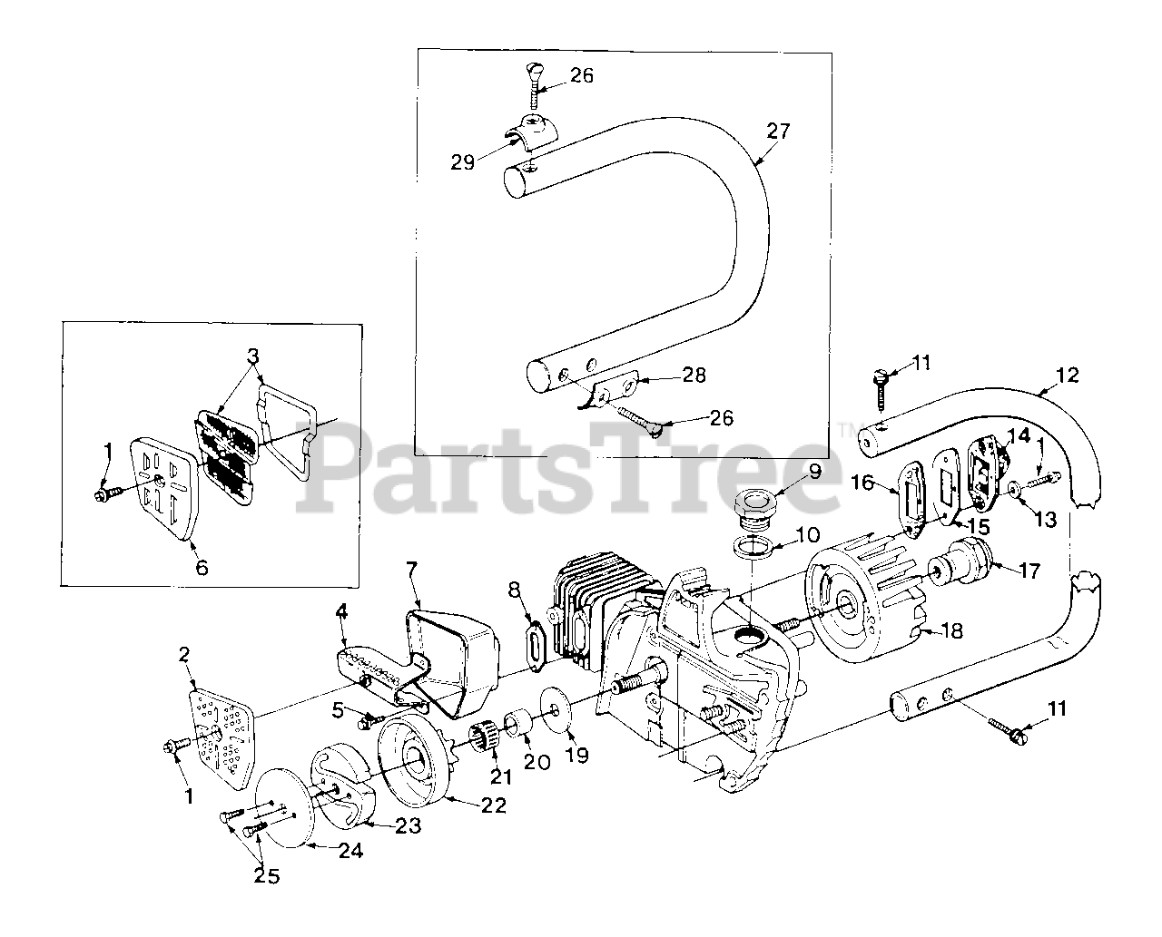 Homelite Chainsaw Parts Diagram : Chainsaw Spare Parts