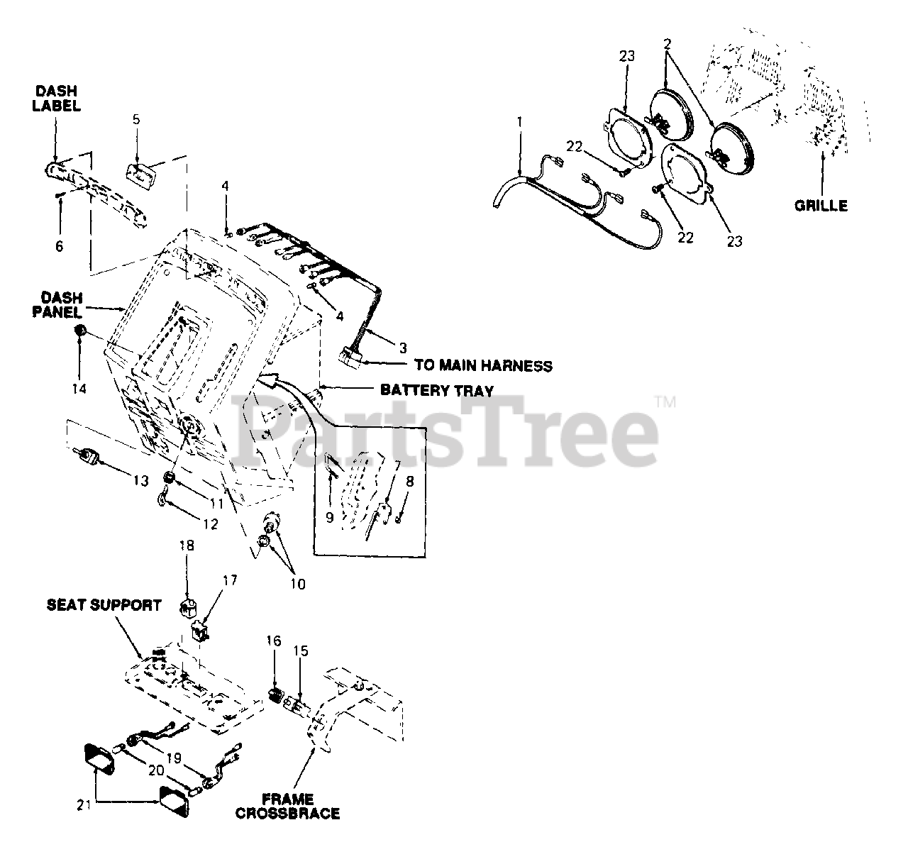 Cub Cadet Parts On The Electrical Diagram For 146