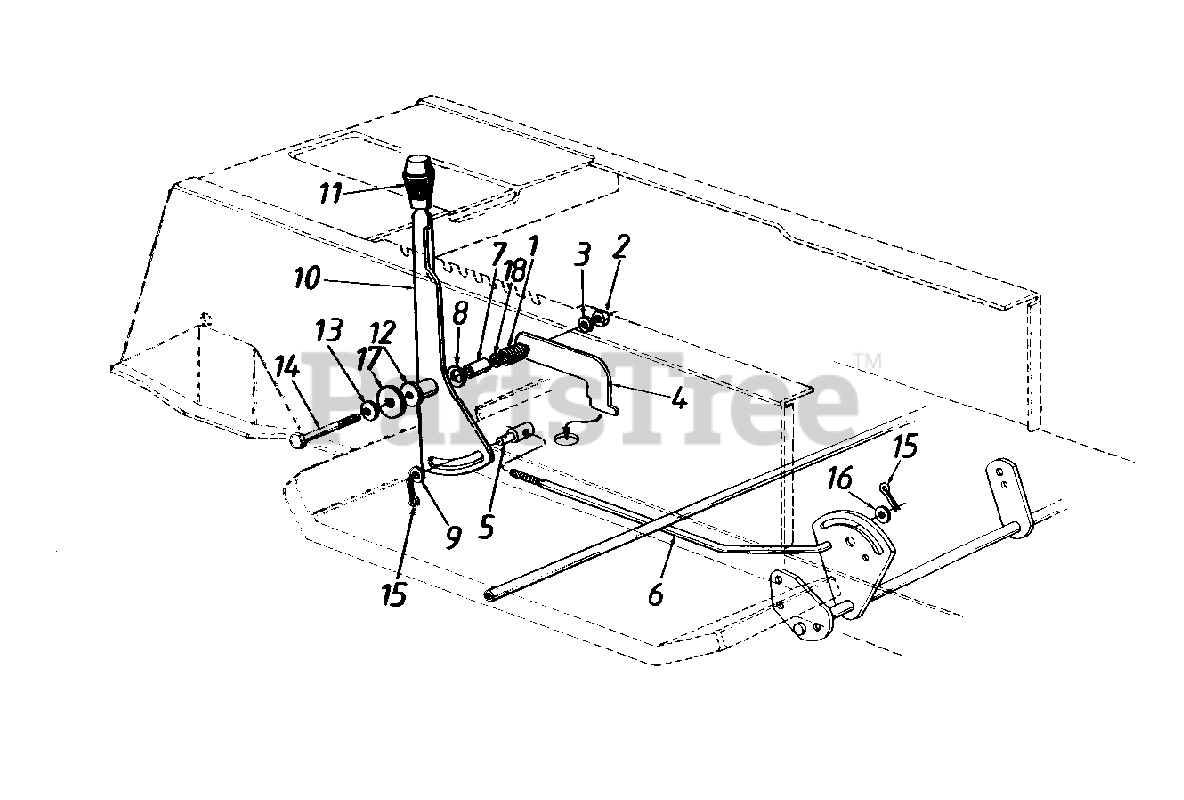 Huskee Parts On The Speed Selector Lever Assembly Diagram