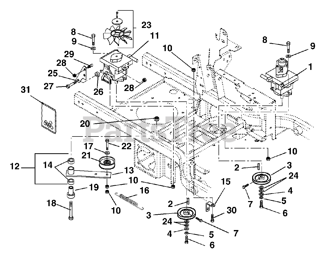 Gravely Parts On The Transmission Diagram For Pm