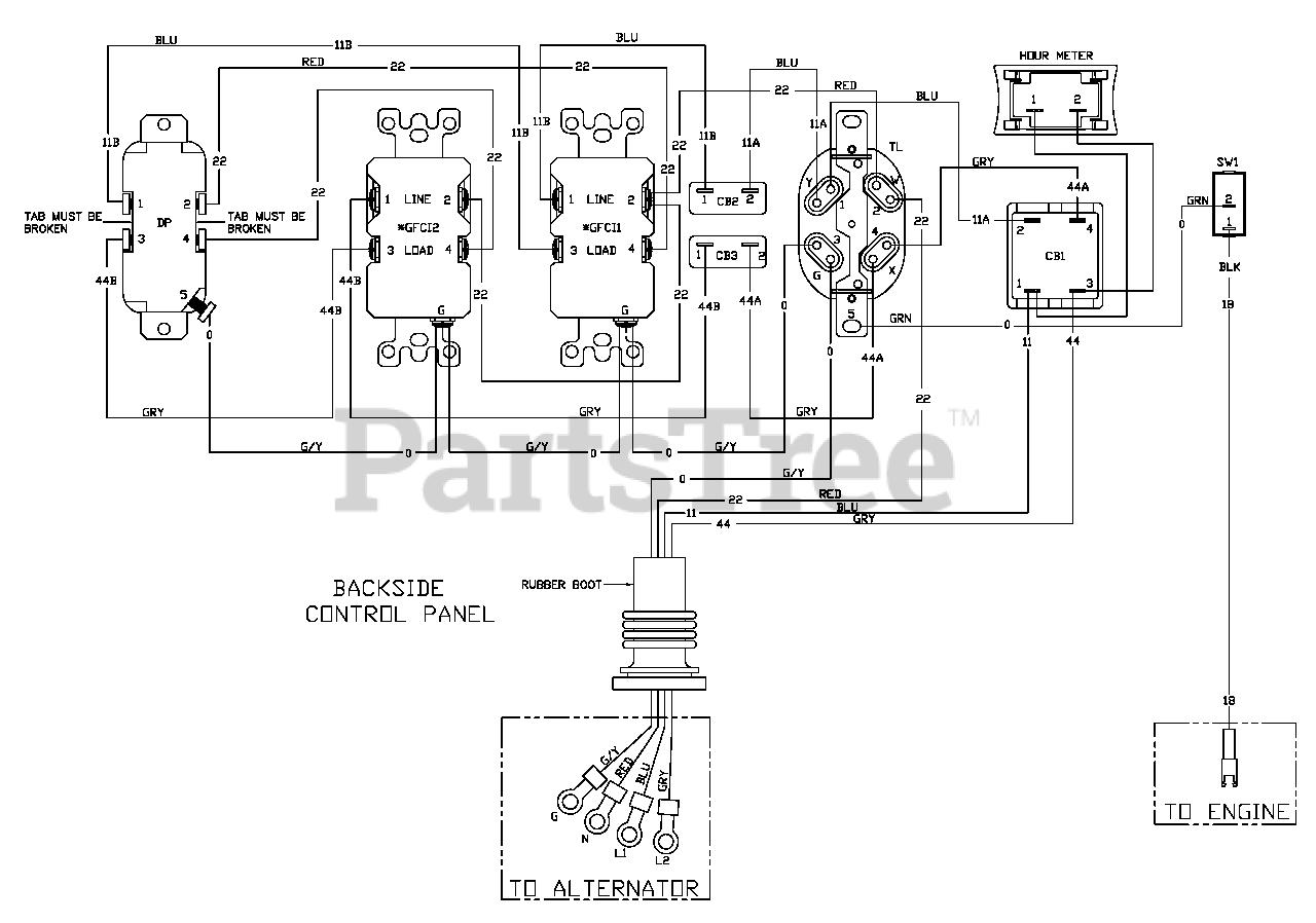 Portable Generator Engine Wiring Diagram