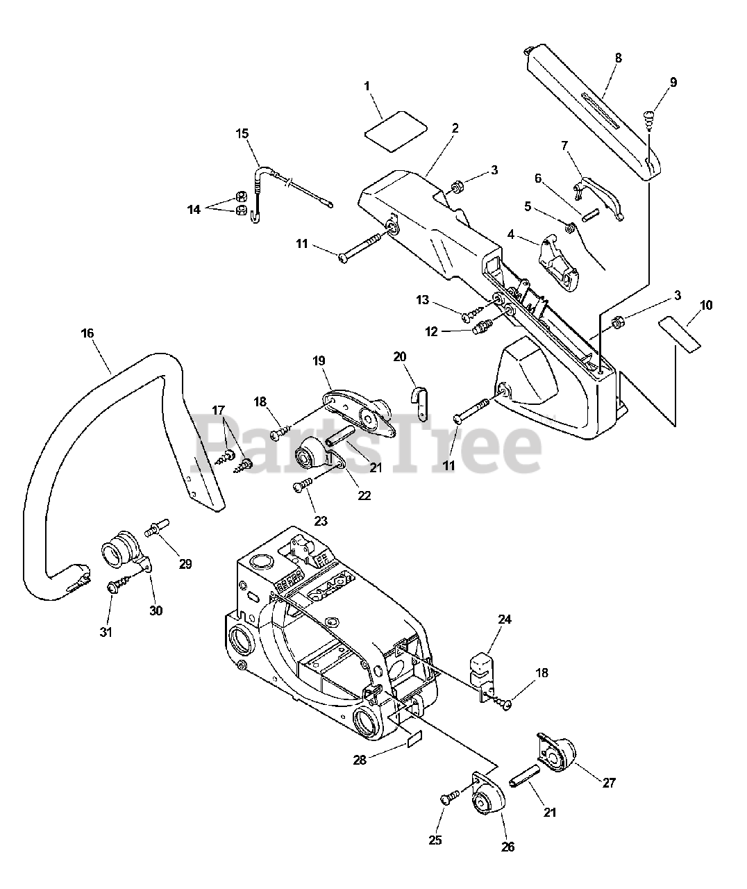Echo Parts On The Handles Throttle Control Diagram For Cs