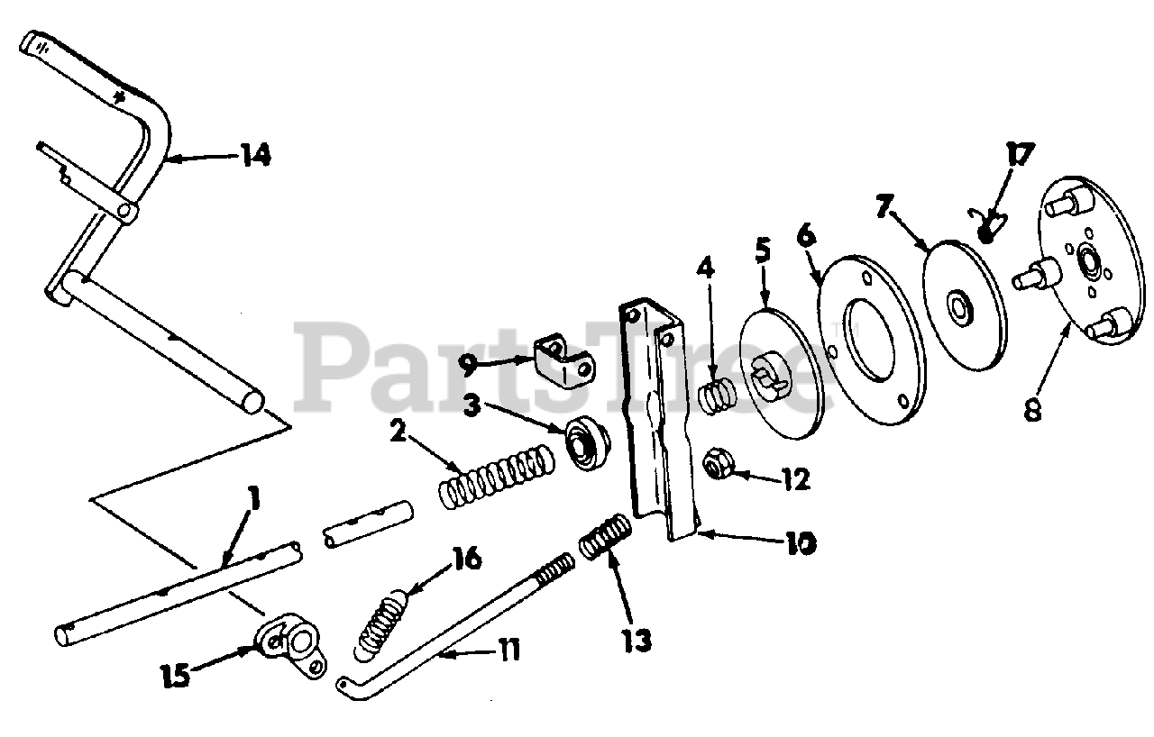 Cub Cadet Parts On The Clutch Diagram For 70