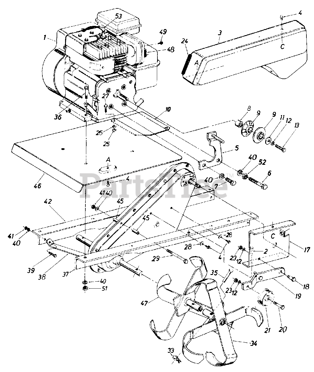 Mtd Tiller Engine Diagram