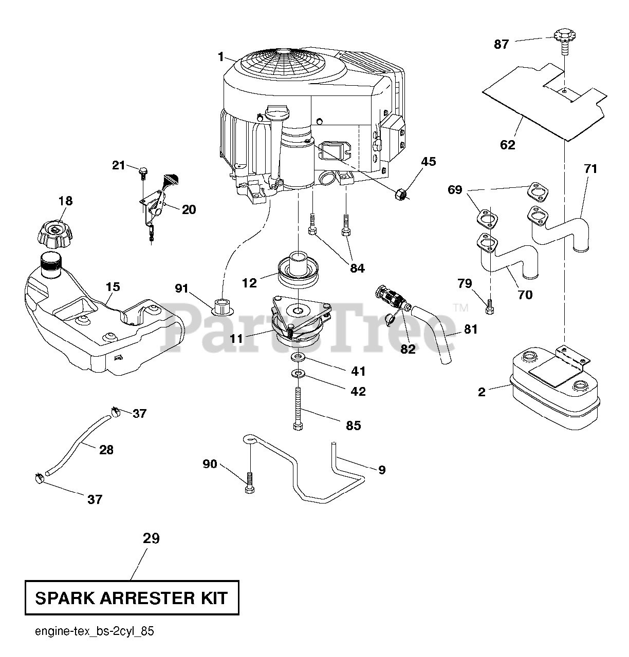 Husqvarna Parts On The Engine Diagram For Lgt